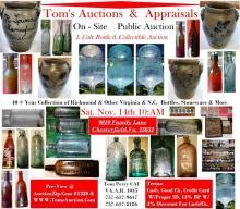 Info for the Richmond Area Bottle Collectors Assoiation bottle Collectors